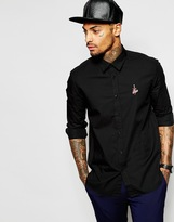 Love Moschino Shirt With Tattoo Logo - Black