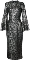 Rebecca Vallance Mireya flare sleeve dress