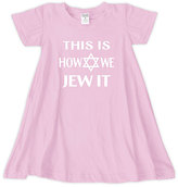 Urban Smalls Light Pink 'This Is How We Jew It' Swing Dress - Toddler & Girls
