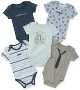 Calvin Klein 5-Pack Printed Bodysuits, Baby Boys