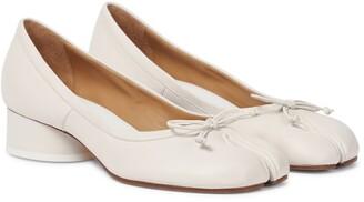 Maison Margiela Tabi leather ballet pumps