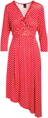 One Fashion By Cozy Collection One Fashion by Cozy Collection Women's Casual Dresses Red - Red & White Polka A-Line Dress - Women