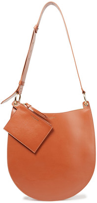 Sara Battaglia Rachele Pleated Color-block Leather Shoulder Bag