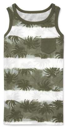 Children's Place The Palm Tree Print Pocket Tank Top (Big Boys)
