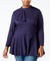 Melissa McCarthy Trendy Plus Size Mock-Neck Top