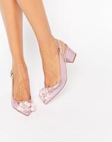 Asos SHIMMER Embellished Pointed Heels