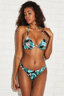 Ardene Floral High Cut Cheeky Bikini Bottom