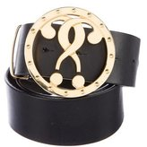 Moschino Question Mark Leather Belt