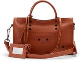 Balenciaga Blackout City small leather cross-body bag