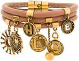 Chloé multi-stranded coin bracelet