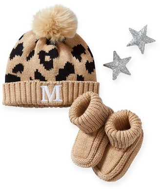 Mark And Graham Cotton Cashmere Baby Hat & Bootie Set