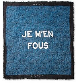 Zadig & Voltaire Delta Je M'en Fous Scarf