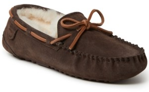 Dearfoams Fireside by Men's Victor Moccasin Lace Tie Slippers Men's Shoes