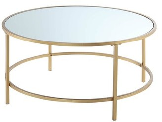 Mercer41 Essex Coffee Table Table Top Color: Mirror, Table Base Color: Gold
