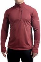 Saucony Run Shield Sport Shirt - Zip Neck, Long Sleeve (For Men)