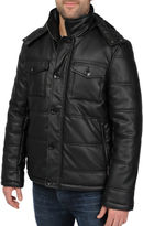 JCPenney R And O Excelled Channel Quilt Faux-Leather Jacket-Big & Tall