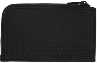 Alexander McQueen Black Zippered Card Holder