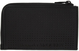 Alexander McQueen Black Zippered Card Holder