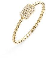 Nordstrom Women's Bony Levy 'Aurora' Diamond Pave Rectangle Ring Exclusive)