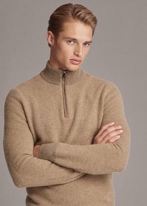 Ralph Lauren Cashmere Quarter-Zip Sweater