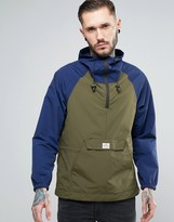 Penfield Pac Jac Overhead Jacket Two Tone Hooded in Navy/Green