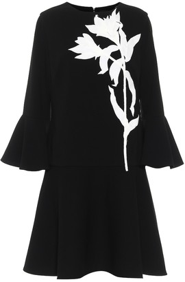 Oscar de la Renta Stretch-wool crepe minidress