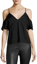 Alexander Wang Cold Shoulder Top With Chain Black