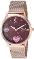 Juicy Couture Black Label Women's Rose Gold-Tone Mesh Bracelet Watch