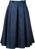 Societe Anonyme midi pleated skirt - women - Cotton - S
