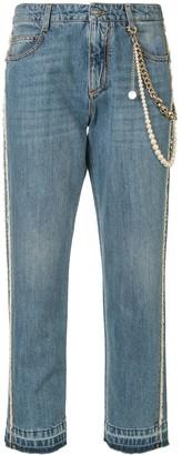 Ermanno Scervino Cropped Boyfriend Jeans
