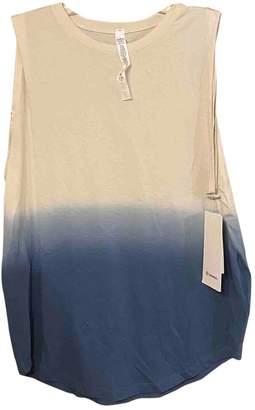 Lululemon Blue Cotton Top for Women