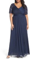 Adrianna Papell Plus Size Women's Tulle & Sequin Gown