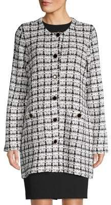 Karl Lagerfeld Paris Tweed Sweater Jacket