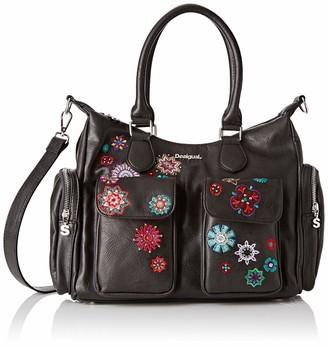 Desigual Women's Bag Rep Nanit London Negro Satchel