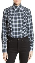 N°21 Women's N?21 Crystal Embellished Plaid Shirt