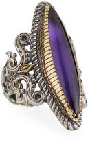 Konstantino Erato Marquise Amethyst Doublet Ring, Size 7