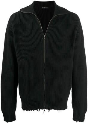 Ann Demeulemeester Long Sleeve Distressed Sweater