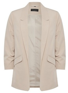 Dorothy Perkins Womens Stone Ruched Sleeve Jacket, Stone