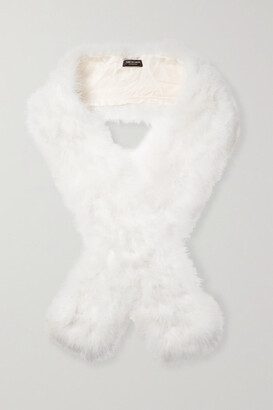 Yves Salomon Feather Scarf - White