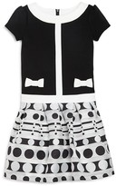 Us Angels Girls' Circle Print Dress - Sizes 2-6X