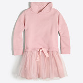 J.Crew Factory Girls' sweatshirt tulle dress