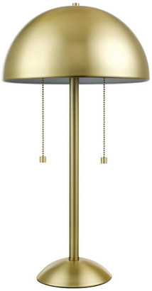 """Novogratz X Globe Electric Novogratz x Globe Haydel 21"""" 2-Light Matte Brass Table Lamp"""