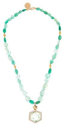 Jade Jagger Diamond, Emerald & 18kt Gold Necklace - Emerald