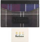 Barbour Mixed Tartan Card Holder Purple