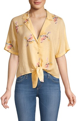 Rails Marley Knotted Floral Crop Top