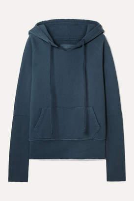 Nili Lotan Janie Distressed Cotton-jersey Hoodie - Blue