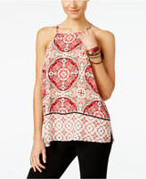 INC International Concepts Petite Printed Halter Top, Only at Macy's
