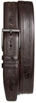 Mezlan 'Parma' Calfskin & Genuine Crocodile Leather Belt