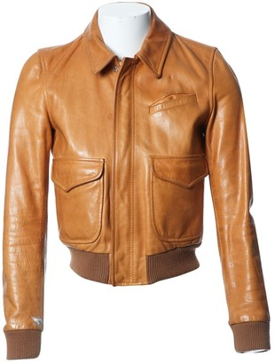 BLK DNM Camel Leather Jacket for Women