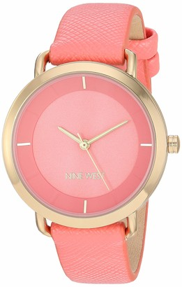 Nine West Women's Rose Gold-Tone and Lavender Vegan Leather Watch NW/2438RGLV